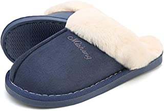 Women Slippers Fluffy Fur Slip On House Slippers Soft and Warm House Shoes for Indoor Outdoor
