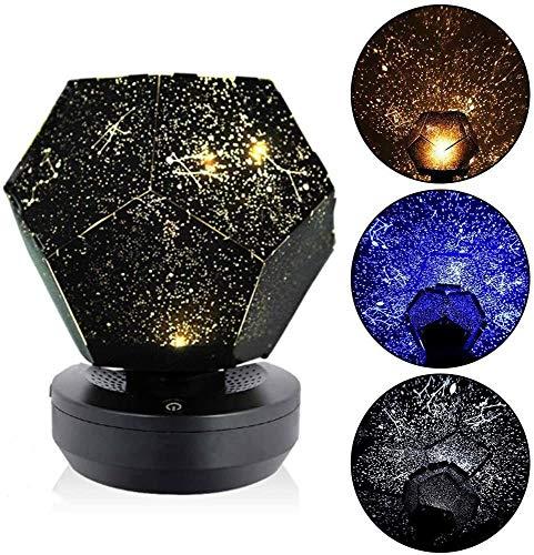 YingQ Three-Color Starlight Projector, DIY Original Family Planetarium Starry Sky Lights, Romantic Outdoor Bedroom Decoration Lights, Children's Best...