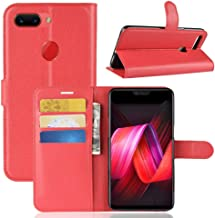 YKDY Litchi Texture Horizontal Flip Leather Case for OPPO R15 Pro, with Wallet & Holder & Card Slots (Black) (Color : Red)