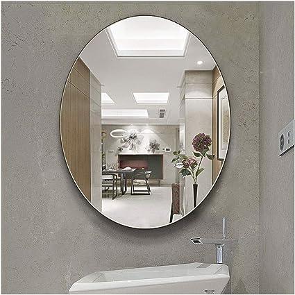 Bd Y Oval Bathroom Wall Frameless Bathroom Mirror Dressing Table Vanity Mirror Washbasin Mirror Wall Mounted Bathroom Mirror Fashion Size 60x80cm Amazon Co Uk Home Kitchen