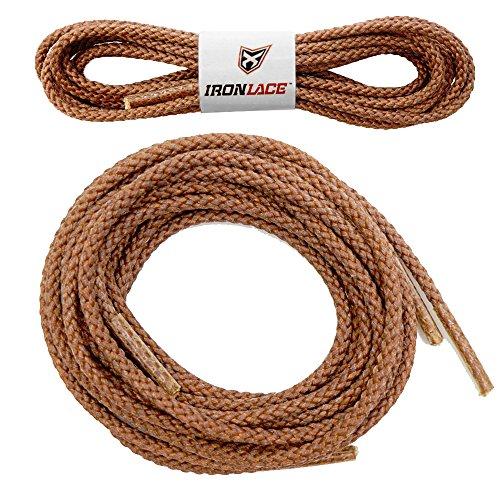 Ironlace Cadarços inquebráveis extra resistentes para botas redondas 83,8 cm, 33 Marrom 30002