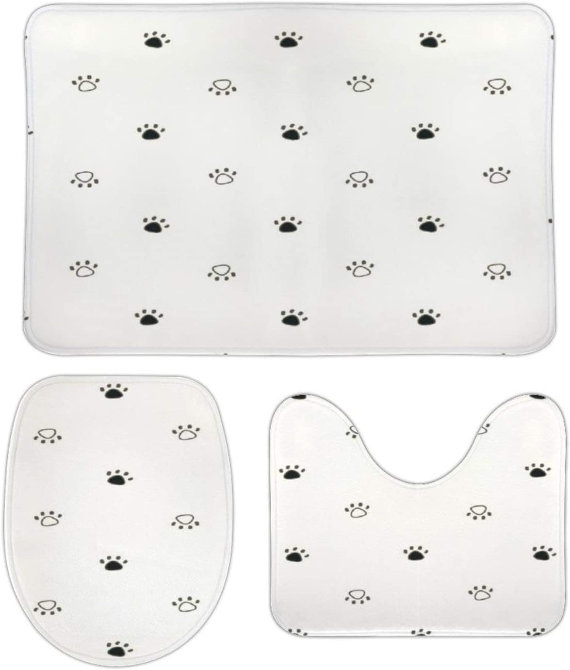 NEWpapa Cool Print Soft Challenge the lowest price New color Comfort Non-Slip Flannel Mats Bathroom A