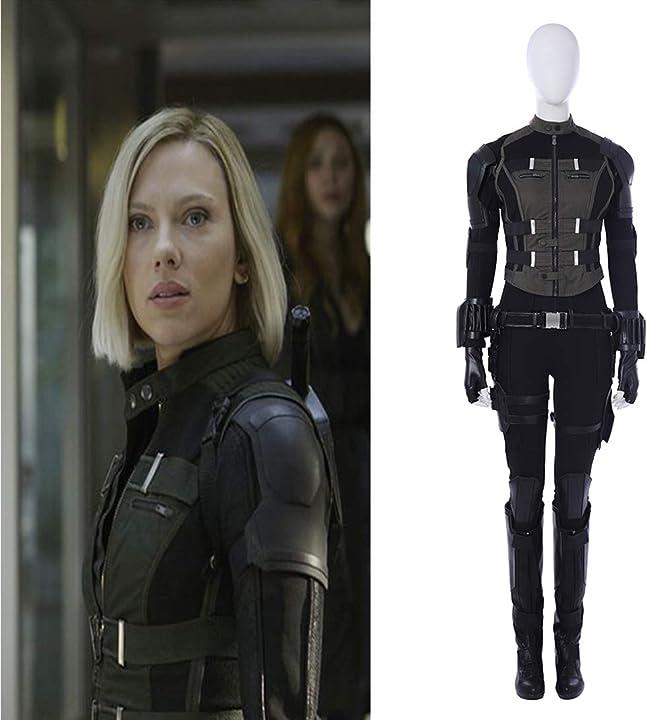 Costume cosplay avengers infinity war black widow costume natasha romanoff rubyonly 273-110-648