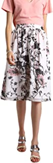 BESIVA Women's Floral Print Gathered Skirt