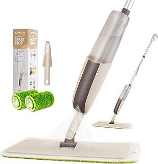CXhome Balai pulvérisateur,Balai lave sol avec vaporisateur,Microfibre Balai serpillère pour nettoyage du sol avec 2 serpi...