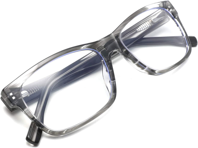 Zéro D Chic Square Blue Light Blocking Glasses Computer Eyeglasses Anti Eyestrain Eyewear Frame Men Women 4888