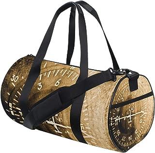 MIMUTI スポーツバッグ コンパス航空機楽器グランジ背景 ジムバッグ メンズ レディース 丈夫 軽量 ボストンバッグ トラベルバッグ アウトドア/スポーツ/旅行/出張/合宿