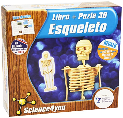 Puzzle 3D Esqueleto Humano   Juguete Científico y Educativo Description