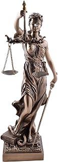 Unbekannt Estatuilla de la Justicia, Escultura Color Bronce de Dioses Romanos, 33 cm
