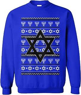 Tcombo Star of David - Jewish Menorah Hanukkah Ugly Unisex Crewneck Sweatshirt