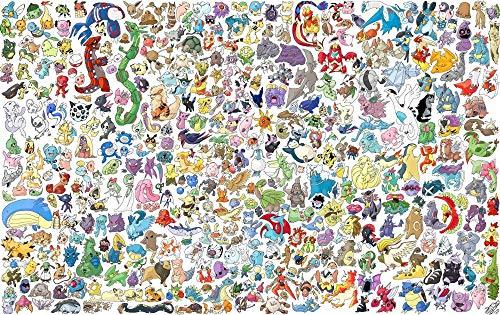 Rompecabezas de 1500 Piezas para Adultos-Pokemon,Rompecabezas de madera,Juegos de Rompecabezas para la Familia, Juegos educativos de Bricolaje Brain Challenge Puzzle