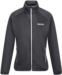 Regatta Women's Cinley II Hybrid Stretch Side Panels Full Zip Softshell Jacket, Black/Black, 8