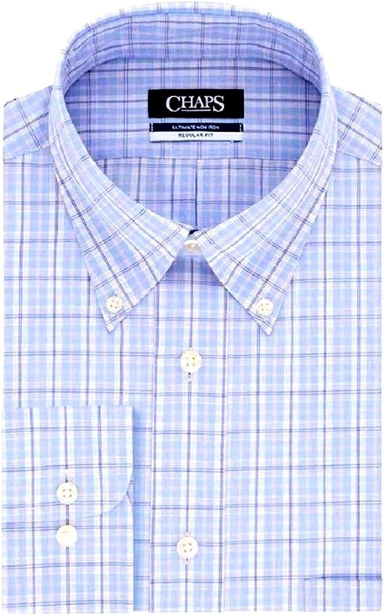 Chaps Men's Regular-Fit Non-Iron Stretch Button-Down Collar Dress Shirt