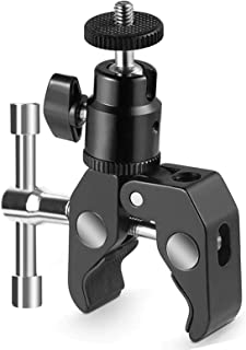 SLOW DOLPHINPhotography Super Clamp with Camera Clamp Mount Ball Head Clamp and Mini Ball Head Hot Shoe Mount Adapter wit...