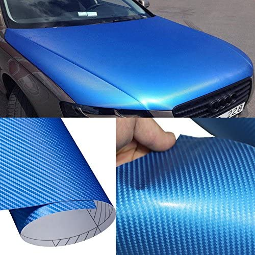 DIYAH 4D Blue Carbon Fiber Vinyl Sticker with Special Challenge the lowest price of Japan ☆ price Wrap Realease Air