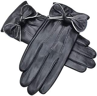 SGJFZD Women's Winter Gloves Outdoor Thicken Windproof Driving Touch Screen Elegant Gloves Windbreak Gloves (Color : Black, Size : L)