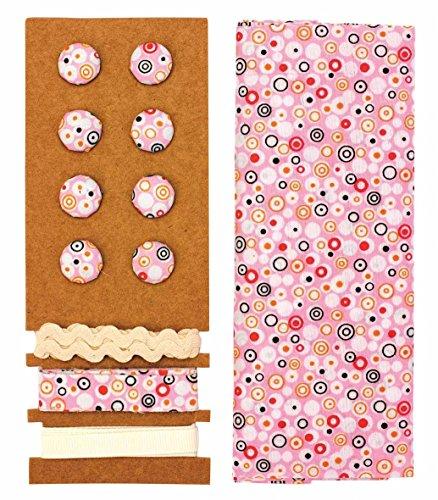 GLOREX Kit de Textile, Polyester, Rose, 24,5 x 17,6 x 0,5 cm