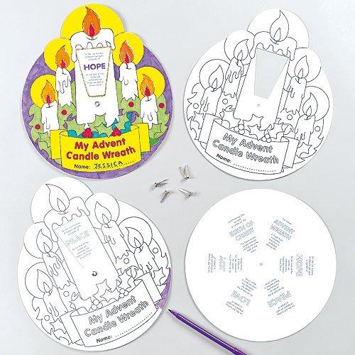 Coronas de Adviento que los niños pueden colorear y exhibir como manualidades navideñas creativas
