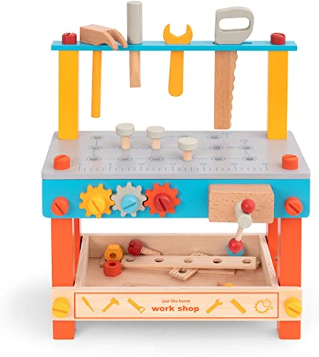 high quality ROBUD Kids Tool Bench Wooden Toy Workbench Small Play 2021 Work Bench Pretend Play Toy Tools sale Set for Toddlers sale