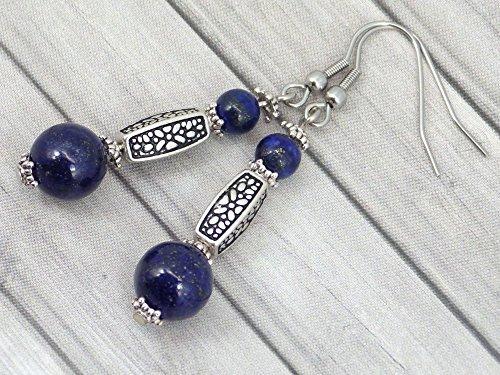 Pendientes Thurcolas en Lapis Lazuli de la gama Medicis