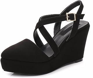 6f8bec4a72 AJUNR Moda/Elegante/Transpirable/Sandalias En Verano 9cm Tacones Cabezas  Puntiagudas Crossover Vendas