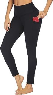 COOrun Women's Plus Size Yoga Pants Butt Lifting Workout Leggings Sports Running Tights (Black,XXL)
