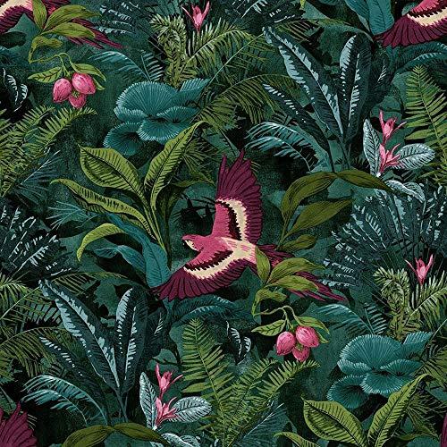 Portfolio Rainforest Green Wallpaper