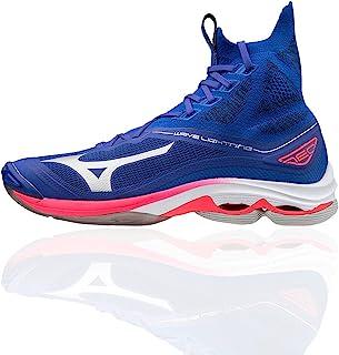 Mizuno Unisex Lightning Neo Volleyball Shoe, Reflexbluec/Silverdpink, 10 UK