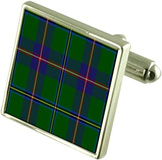 Select Gifts US State tartan Washington Sterling Silver Cufflinks Engraved Box