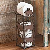 BLACK FOREST DECOR Pine Tree & Bears Toilet Paper Stand