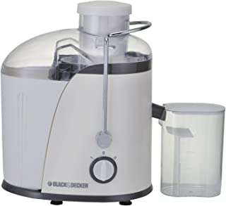 Black+Decker 400W Juicer Extractor With Wide Chute - White, JE400-B5