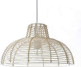 Lussiol 250617 - Lámpara de techo, 60 W, mimbre