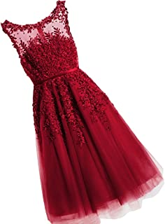 Juniors Short Homecoming Dresses Lace Appliques with Pearls Prom Party Gowns