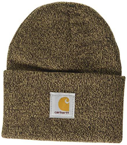 Carhartt Watch Hat Bonnet Beanie, Dark Brown/Sandstone, OFA Mixte