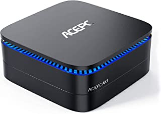 "ACEPC AK1 Mini PC,8GB RAM+256GB ROM,Intel Celeron J3455,Windows 10 Pro 4K Mini Ordenador Computer,Apoyo 2.5"" SATA SSD/HDD/..."