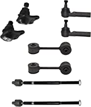 8pc Front Inner Outer Tie Rods - Lower Ball Joints & Sway Bar Links - For 1999-2005 VW Jetta - [1999-2006 Golf] - 1998-2010 VW Beetle - CHECK Bullet Point Notes on Listing