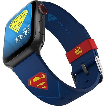 DC Comics - Superman Tactical Edition - Cinturino in silicone con licenza ufficiale compatibile con Apple Watch, adatto a 38 mm, 40 mm, 42 mm e 44 mm