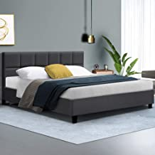 King Bed Frame Fabric Charcoal