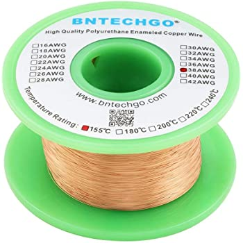31 AWG Gauge Magnet Wire Natural 1000/' 200C Enameled Copper Coil Winding