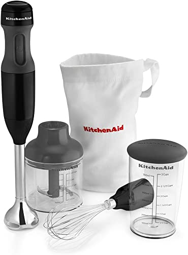 popular KitchenAid KHB2351OB discount 3-Speed Hand 2021 Blender - Onyx Black (Renewed) online