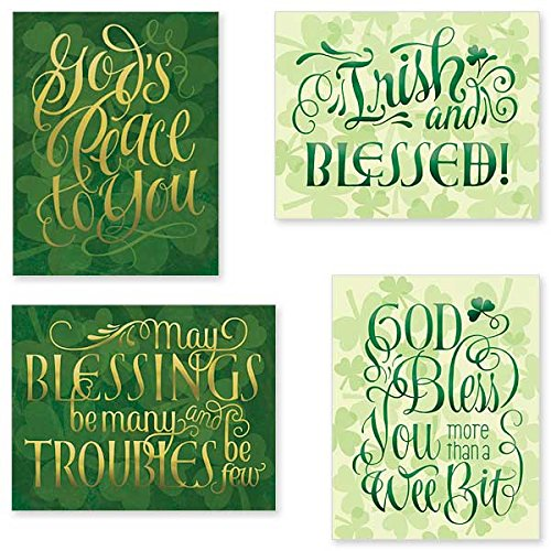 Irish Celtic Petite Notecards with Envelopes 3 Each of 4 Designs