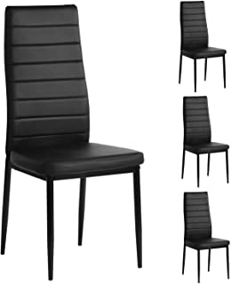Mecor Modern Dining Chairs Set of 4, High Back PU Leather...
