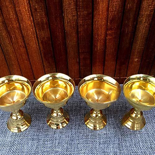 BeesClover Ghee Lampenfassung, mehrere Größen, Kerzenhalter, tibetisches Messing, Butter, Kupfer, Öllampenfassung, Nr. 15, Durchmesser 14,8 cm,...