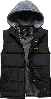 Wantdo Men`s Hooded Winter Vest Jacket Sleeveless Quilted Puffer
