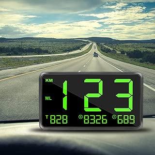 Faddare Car Universal HUD Head Up Display Digital GPS Speedometer Overspeed Alarm for All Vehicle Motorcycle Bicycle
