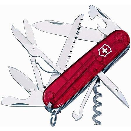 Victorinox Huntsman con 15 Usos, rojo transparente