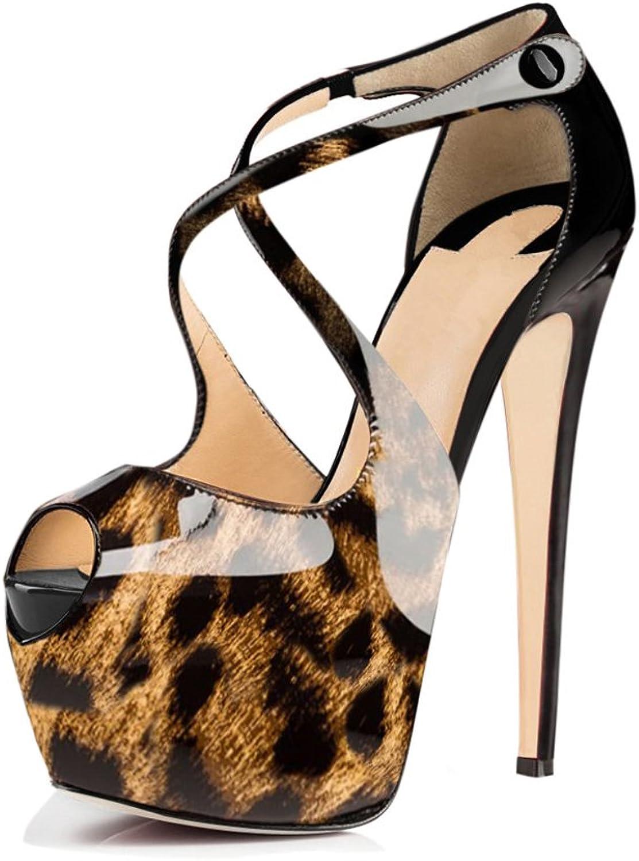 Onlymaker Lady's Gladiator Adjustable Buckle Strap High Heel Sandals for Prom Dress