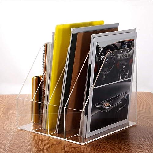QFFL zhuomianshujia Ordner-Aufbewahrungsbox Office BookshelfüranSpaßent Vier-Raster-Dateibalken VierSpaßtiger Dateikorb Ordentliche High-End-Atmosph  Bücherregale