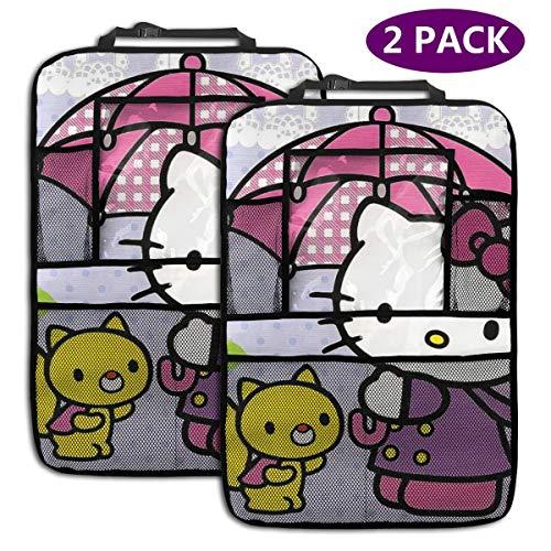 TBLHM Hello Kitty Lot de 2 Sacs de Rangement pour siège arrière de Voiture Motif écureuil