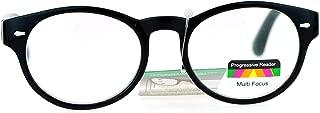 Oval Horn Rim Multi 3 Focus Progressive Reading Glasses